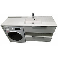 Тумба под стиральную машинку с умывальником Fancy Marble Vivara 1500 (Правая)