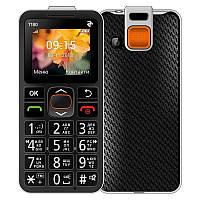 "Мобильный телефон 2E T180 Single Sim Black (708744071125); 1.7"" (160х128) TN / клавиатурный моноблок / 32 МБ встроенной + microSD до 16 ГБ / камера"