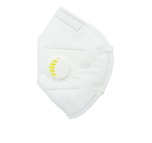 Защитная маска для лица KN 95 с угольным фильтром 1 шт Белая (MAS40377)