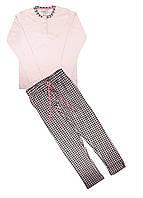 Домашній костюм GMV L Рожевий, Чорний