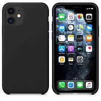 Чехол накладка на iPhone 11 good Leather Case black