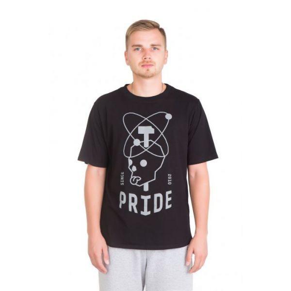 Футболка Pride ЧЕРЕП черная, размер S