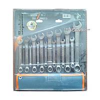 Набор ключей рожково-накидных CRV DIN 3113 15шт(6,7,8,9,10,11,12,13,14,15,16,17,18,19,22мм) в брезен
