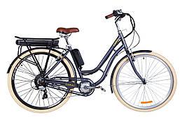 "Электровелосипед 28"" CORAL трещ., 500Вт 36В редуктор. задн.привод, 17.5Ач LG M3500 с крепл. к багажн.,"