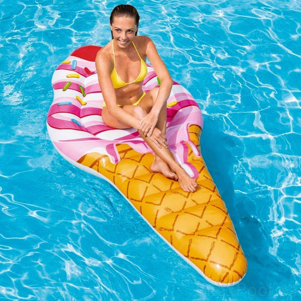 Надувний пляжний матрац Intex 58762 «Морозиво», 224 х 107 см