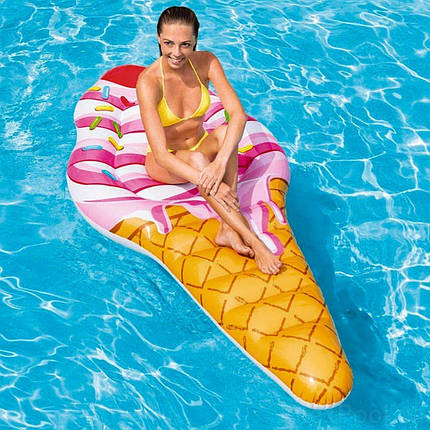 Надувний пляжний матрац Intex 58762 «Морозиво», 224 х 107 см, фото 2
