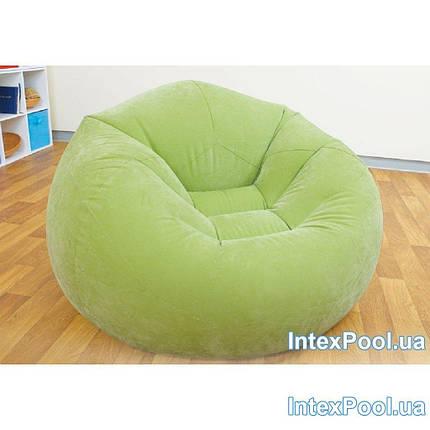 Надувное кресло INTEX, 3 цвета 107х104х69 см  (68569) зеленый, фото 2