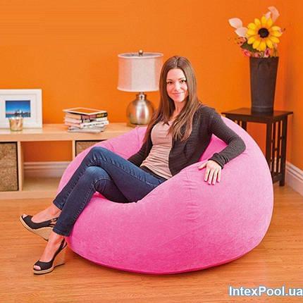 Надувное кресло INTEX, 3 цвета 107х104х69 см  (68569) розовый, фото 2