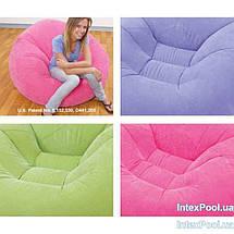 Надувное кресло INTEX, 3 цвета 107х104х69 см  (68569) розовый, фото 3