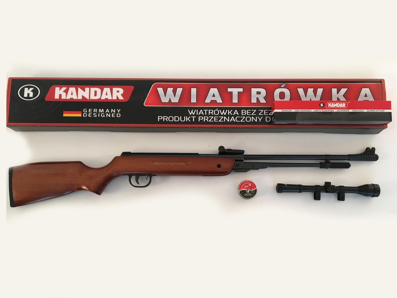 Пневматична гвинтівка PRO Germany HARD 4,5 mm 280 m/s оптика Kandar 3-7x28TV