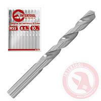 Сверло по металлу удлиненное DIN 340 9,5 мм HSS Intertool SD-5295