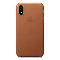 Чехол накладка на iPhone XR Leather Case saddle brown
