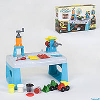 Тесто для лепки 8734 (12) 42 детали, 4 баночки теста, столик, аксессуары, в коробке