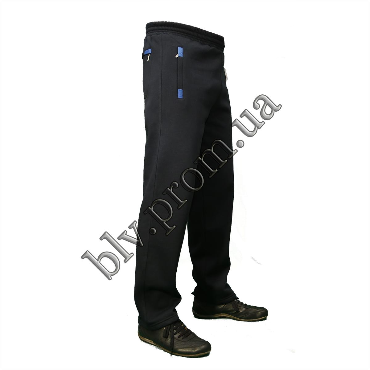 Утепленные мужские брюки байка пр-во Турция KD1018 Dark blue