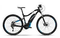 """Электровелосипед Haibike SDURO HardNine 5.0 500Wh 29"""",  рама L, черно-сине-белый, 2018"""