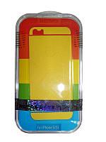 Защитная пленка Remax для iPhone 5/5S/5SE (front + back) Pure Sticker Yellow