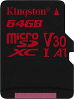 Карта памяти MicroSDXC 64GB UHS-I/U3 Class 10 Kingston Canvas React R100/W80MB/s (SDCR/64GBSP)