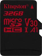 Карта памяти MicroSDHC 32GB UHS-I/U3 Class 10 Kingston Canvas React R100/W80MB/s (SDCR/32GBSP)