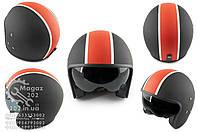 Шлем открытый   (mod:062) (size:XL, черно-красный матовый, солнцезащитные очки)   LS2, O-1639