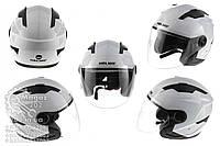 Шлем открытый   (mod:DH958) (size:M, белый)   HELMO, O-2572