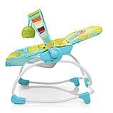 Дитячий підлоговий шезлонг-гойдалка з регульованою спинкою, Bambi 6904-1 салатовий. Дитяче крісло качалка, фото 6