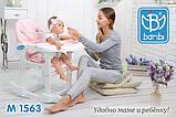 Детский стульчик для кормления трансформер Bambi M 1563-11 розовый. Дитячий стільчик для годування, фото 3