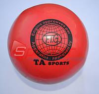 Мяч художественной гимнастики D-19см .(красный) Т-8