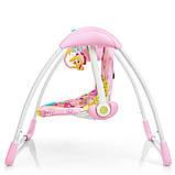 Дитячий заколисуючий центр Mastela 6519 рожевий. Підлогові електро гойдалки для дітей, фото 9
