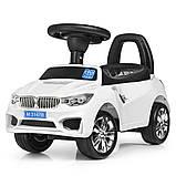 Толокар каталка BMW на колесах з гумовим покриттям, Bambi M 3147B білий, фото 2