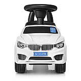 Толокар каталка BMW на колесах з гумовим покриттям, Bambi M 3147B білий, фото 4