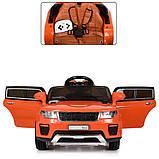 Детский электромобиль Land Rover Ленд Ровер M 5396EBLR-7 оранжевый для детей от 3 до 6 лет., фото 4
