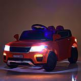 Детский электромобиль Land Rover Ленд Ровер M 5396EBLR-7 оранжевый для детей от 3 до 6 лет., фото 6