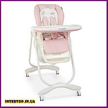 Детский стульчик для кормления с регулируемой спинкой El Camino Dolce 3236 Sweet Pink розовый