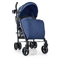 Детская прогулочная коляска-трость El Camino Breez ME 1029 Space Blue. Дитячий прогулочний візок синій колір