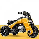 Детский трехколесный электро-мотоцикл на мягких колесах для детей от 3 до 6 лет  M 4113EL-6 желтый, фото 2