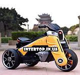 Детский трехколесный электро-мотоцикл на мягких колесах для детей от 3 до 6 лет  M 4113EL-6 желтый, фото 3