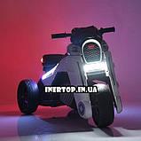 Детский трехколесный электро-мотоцикл на мягких колесах для детей от 3 до 6 лет  M 4113EL-6 желтый, фото 4