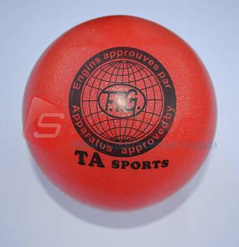 Мяч для художественной гимнастики (д 19) красный Т-9