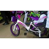 Детский двухколесный велосипед Crosser Kids Bike 20 дюймов детям 7-10 лет фиолетовый, фото 4