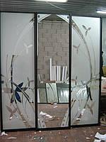 Раздвижные двери с матовым напылением, фото 1