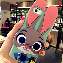 3D чехол бампер ЗАЙЧИК силиконовый для айфона iPhone  7 / 8 детский