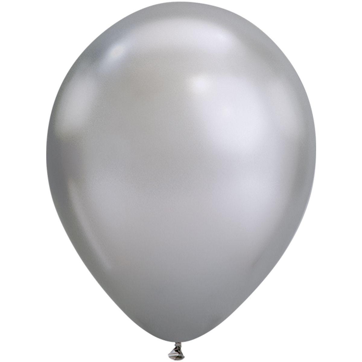 """Шар воздушный Qualatex хром Серебристый Silver 7"""" (18см)"""