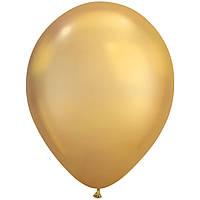 """Шар воздушный Qualatex хром Золотистый Gold 7"""" (18см)"""