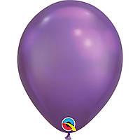 """Шар воздушный Qualatex хром Фиолетовый Рurple 7""""(18см)"""