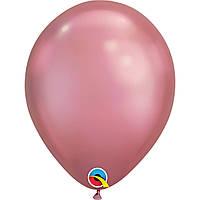 """Шар воздушный Qualatex хром Розовый Мauve 7"""" (18см)"""