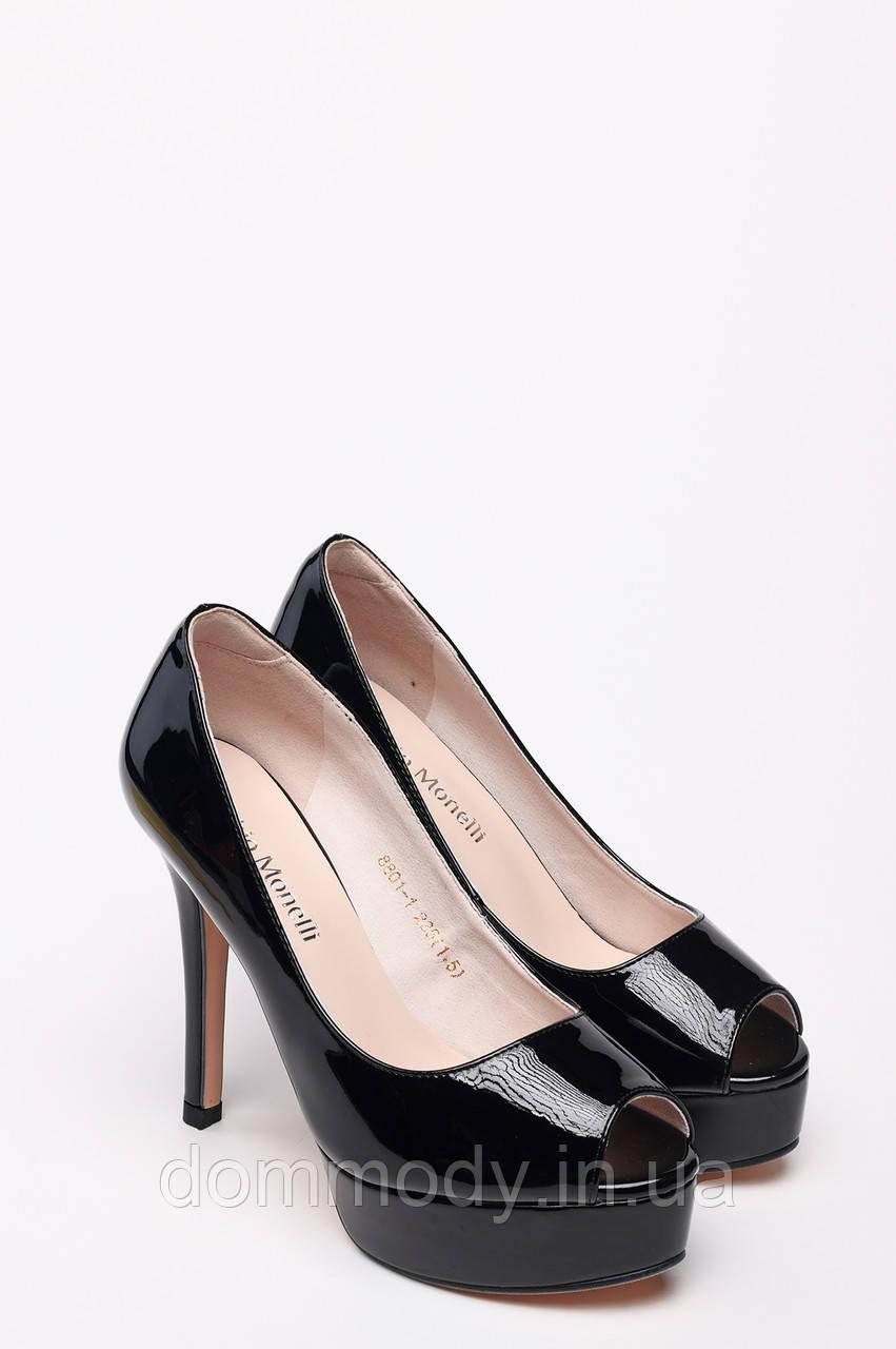 Туфли женские лаковые с открытым носком