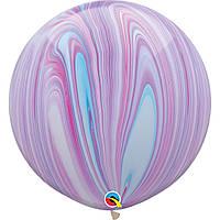 """Куля повітряна Qualatex Супер Агат Фіолетовий Сarroty 30""""(76см)"""