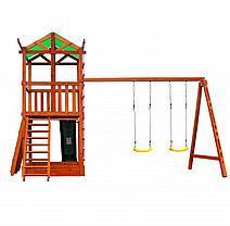 Детская спортивная деревянная площадка Babyland-4, размер 3.2х 4.1 х 4.4 м, фото 2