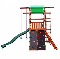 Детская спортивная деревянная площадка Babyland-4, размер 3.2х 4.1 х 4.4 м, фото 3