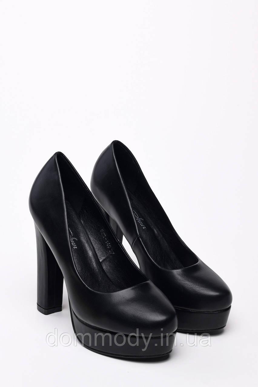 Туфлі жіночі з еко-шкіри чорного кольору
